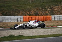 Lance Stroll, Williams FW40, pierde el control