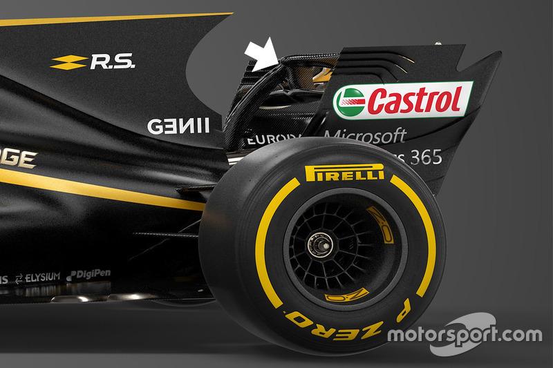 Renault Sport F1 Team RS17, pilone di supporto dell'ala posteriore