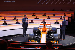 Zak Brown, Executive Director of McLaren Technology Group, talks to presenter Simon Lazenby on stage