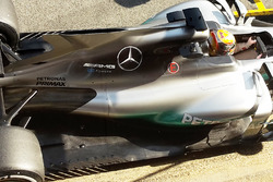 Lewis Hamilton, Mercedes AMG F1 W08 with open shark fin