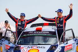 Les troisièmes Dani Sordo, Marc Marti, Hyundai i20 WRC, Hyundai Motorsport
