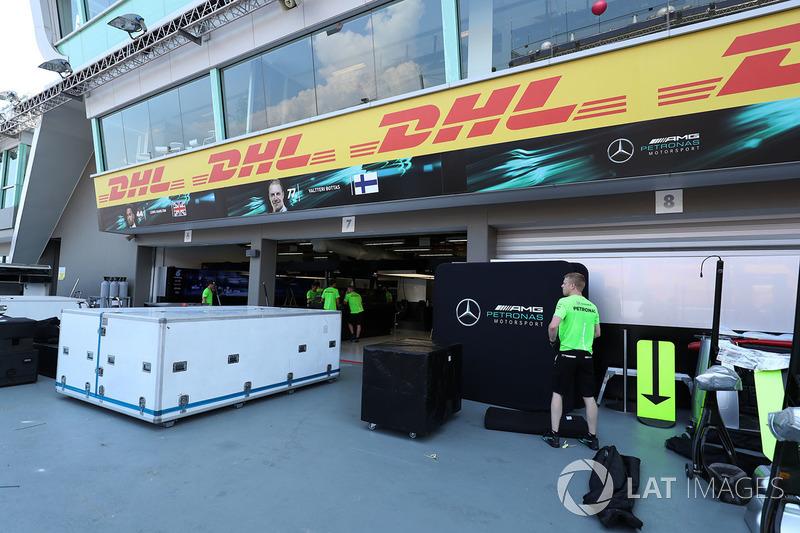 Mercedes AMG F1 garage