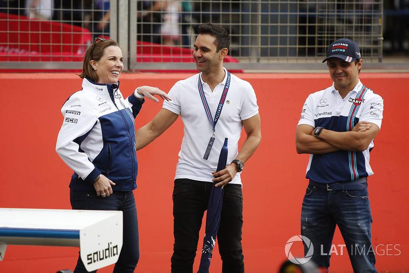 Claire Williams, Antonio Pizzonia, Felipe Massa, Williams