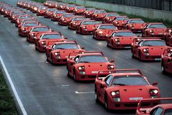 Ferrari F40 al raduno del Ferrari Club Germany nel 1992
