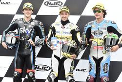 Polesiiter Thomas Luthi, CarXpert Interwetten; 2. Francesco Bagnaia, Sky Racing Team VR46; 3. Franco Morbidelli, Marc VDS