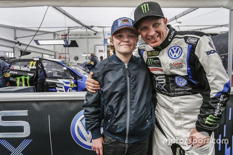 Petter Solberg, PSRX Volkswagen Sweden, VW Polo GTi con su hijo Oliver Solberg