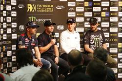 Sebastien Loeb, Team Peugeot-Hansen, Peugeot 208 WRX, Petter Solberg, PSRX Volkswagen Sweden, VW Polo GTi, Mattias Ekström, EKS, Audi S1 EKS RX Quattro, Ken Block, Hoonigan Racing Division, Ford Focus RSRX