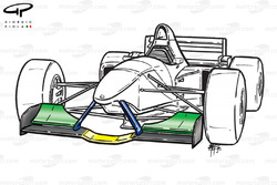 Minardi M195 front wing (lower central section)