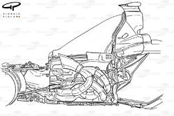 Ferrari F2004 (655) 2004 engine packaging