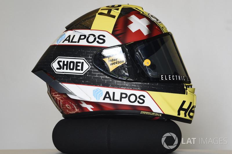 El casco de Thomas Luthi, CarXpert Interwetten