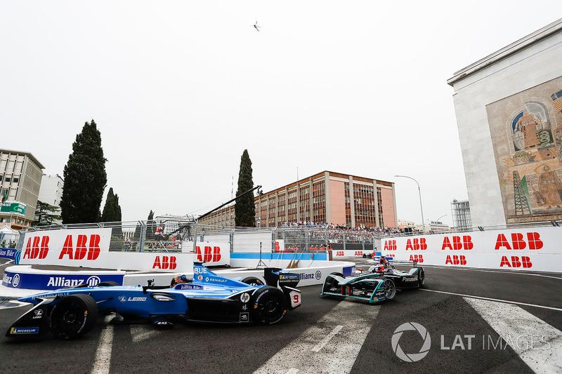 Sébastien Buemi, Renault e.Dams, Nelson Piquet Jr., Jaguar Racing