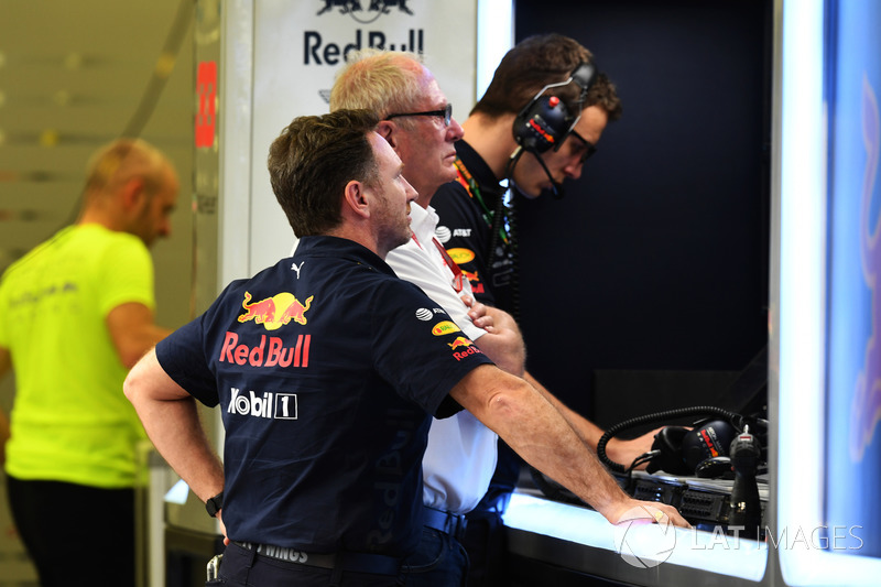 Christian Horner, Red Bull Racing Team Principal, Dr Helmut Marko, Red Bull Motorsport Consultant