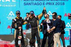 Podyum: Yarış galibi Jean-Eric Vergne, Techeetah, 2. sıra Andre Lotterer, Techeetah