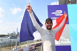 Jean-Eric Vergne, Techeetah, celebrates on the podium after winning the championship