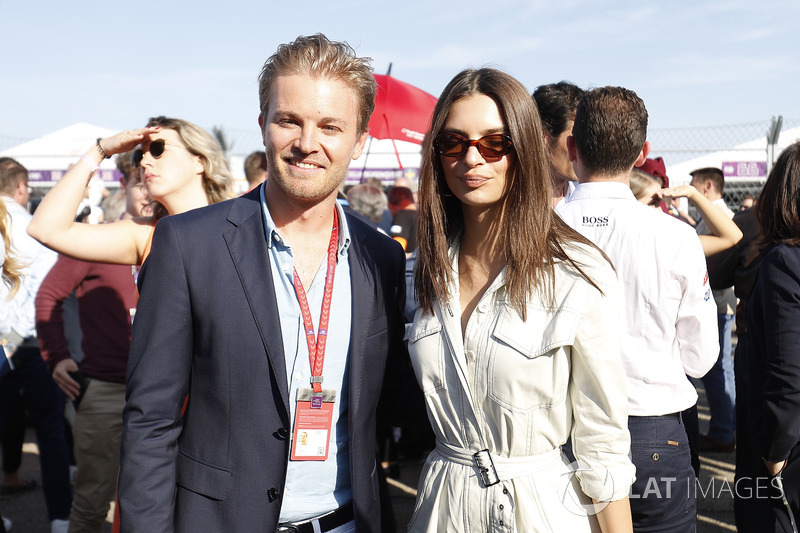 Nico Rosberg, Formula 1 World champion, Formula E investor, with Model Emily Ratajkowski