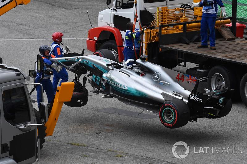 سيارة لويس هاميلتون، مرسيدس بعد الحادث