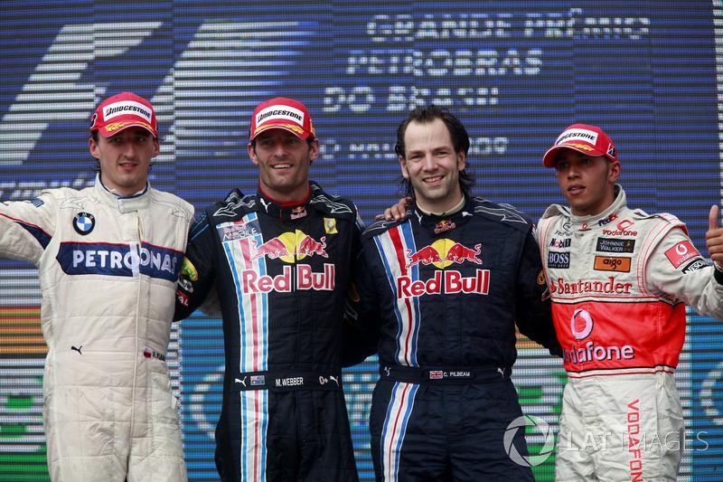 2009: 1. Mark Webber, 2. Robert Kubica, 3. Lewis Hamilton