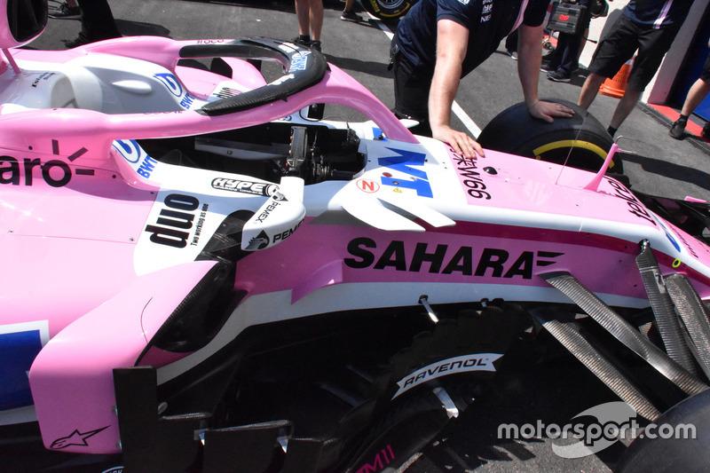 Force India VJM11, abitacolo