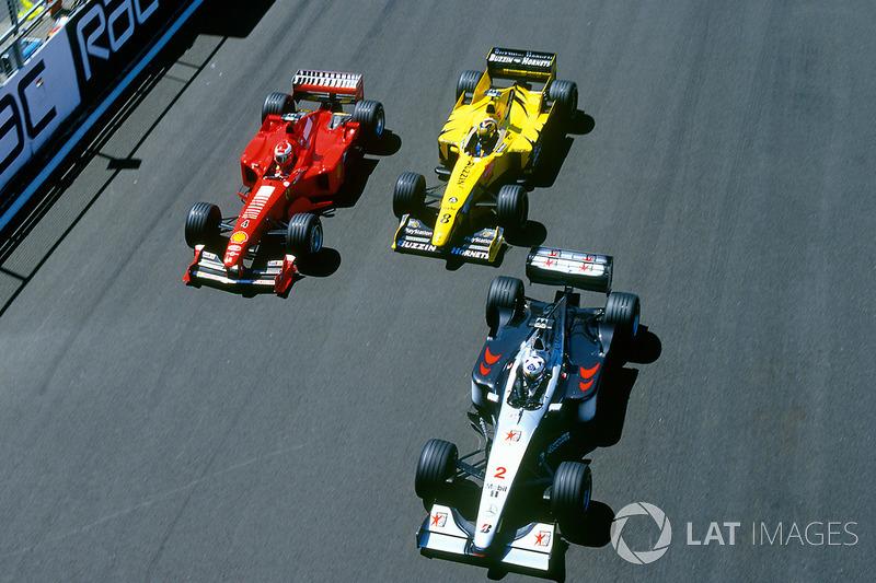 David Coulthard, McLaren, Eddie Irvine, Ferrari, Heinz-Harald Frentzen, Jordan