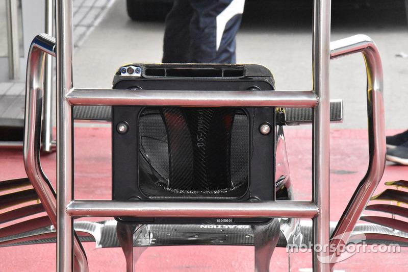 Detalle de la nariz del Renault Sport F1 Team R.S.