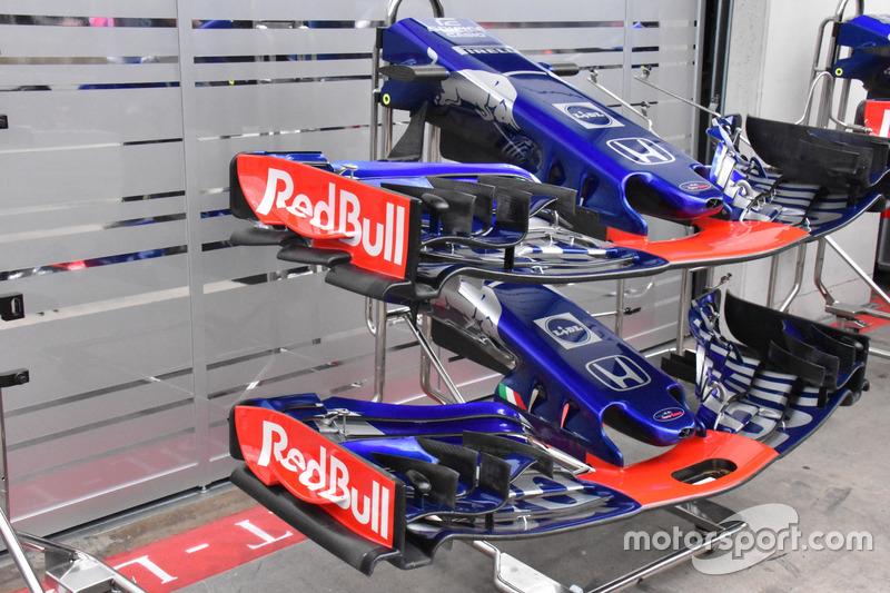 Alerones delanteros del Scuderia Toro Rosso STR13