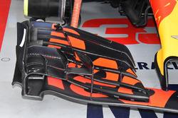 Vue détaillée de l'aileron avant de la Red Bull Racing RB14