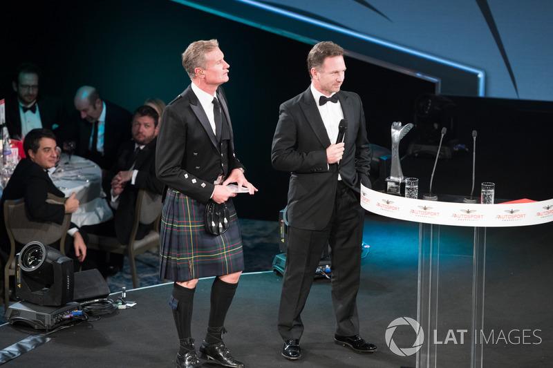 Presenter David Coulthard, Christian Horner