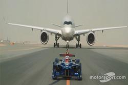 Fórmula E x avião