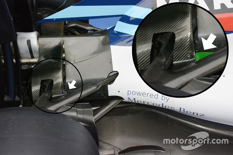Williams FW38 rear detail