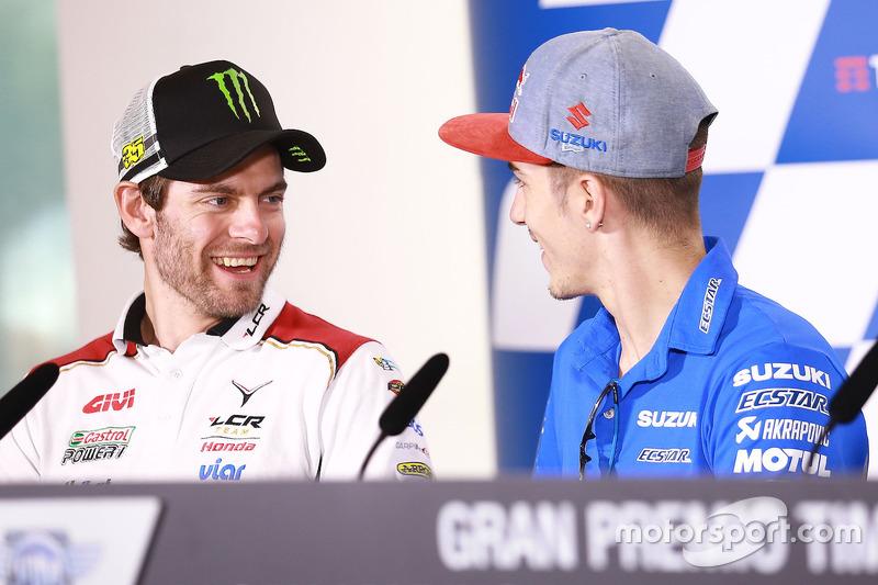 Cal Crutchlow, Team LCR, Honda; Maverick Viñales, Team Suzuki Ecstar MotoGP