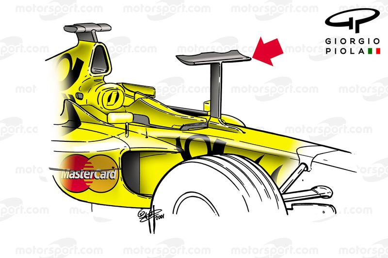 Jordan EJ11 nose wing, Monaco GP