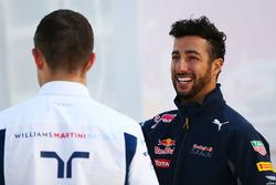 Daniel Ricciardo, Red Bull Racing and Paul di Resta, Williams Reserve Driver