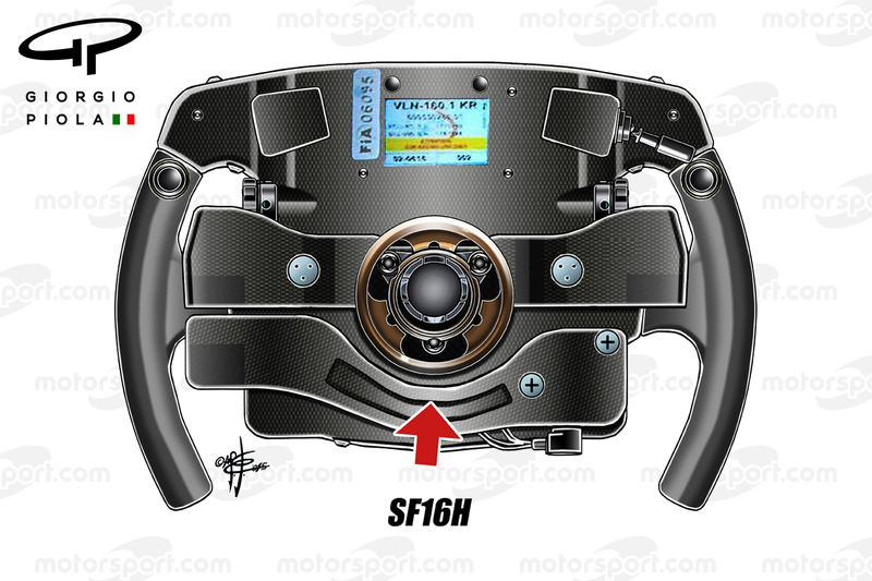 Ferrari SF16H steering wheel