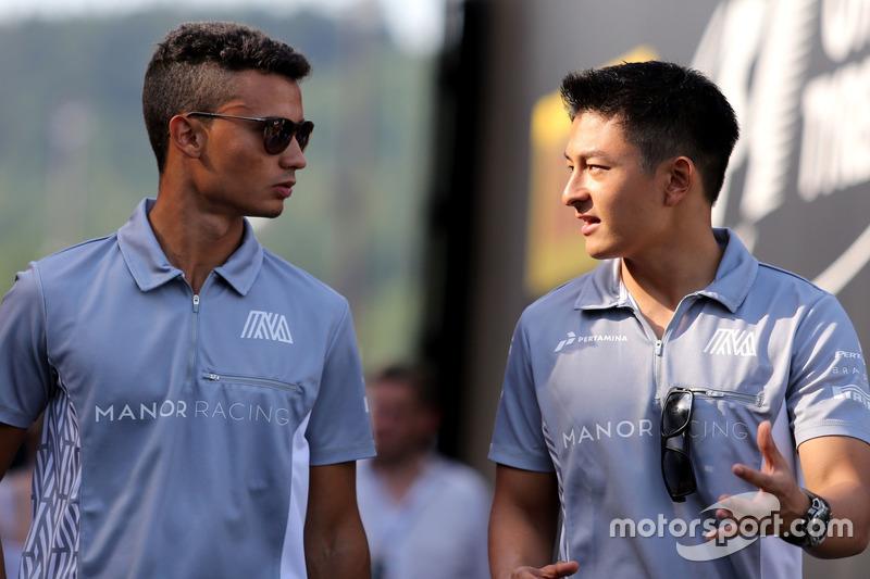 Pascal Wehrlein, Manor Racing and Esteban Ocon, Manor Racing