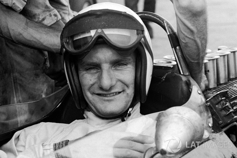 Mike Hailwood, Lotus 25-BRM, en el GP de Alemania de 1964
