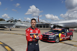 Jamie Whincup , Triple Eight Race Engineering Holden and a Royal Australian Air Force F/A-18A Horne and Virgin Australia's 737-800