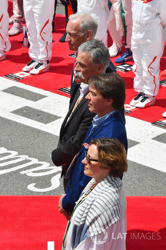 Chase Carey, Chief Executive Officer ed Executive Chairman del Formula One Group, in griglia