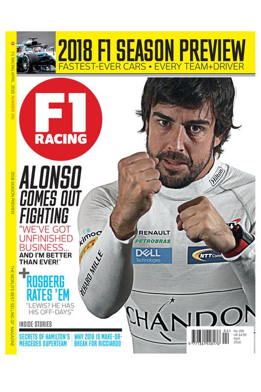 Cover F1 Racing magazine april 2018