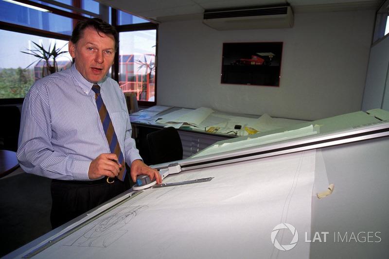 Formula One designer John Barnard at the Ferrari Design and Development company in Guildford