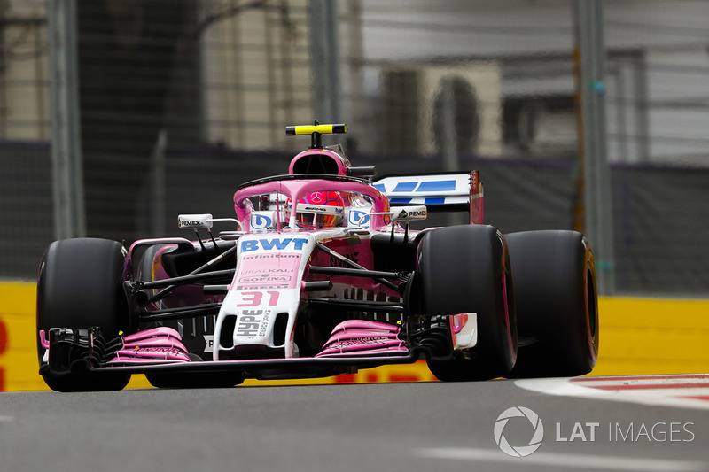 7: Esteban Ocon, Force India VJM11 Mercedes, 1'42.523