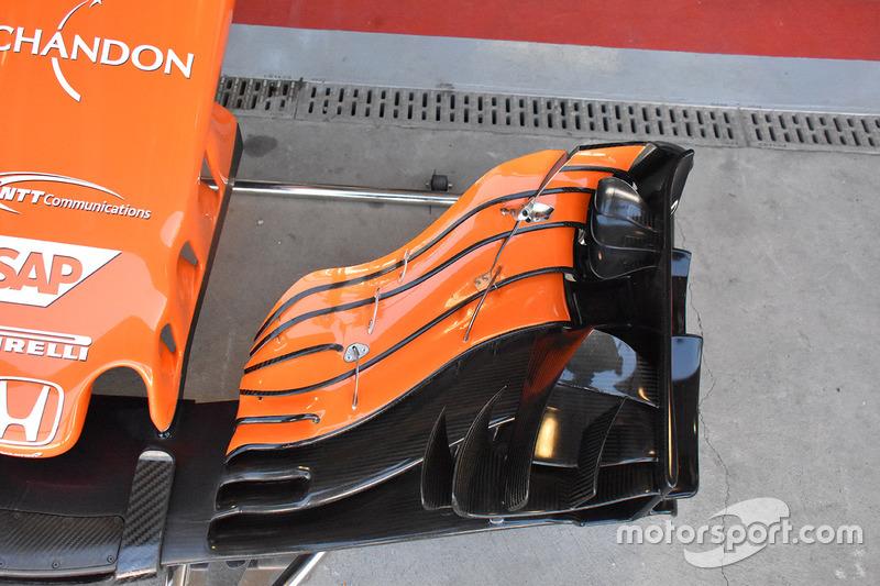 McLaren MCL32, naso e ala anteriore