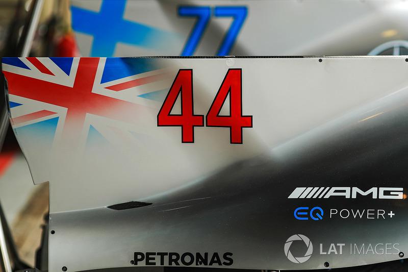 Mercedes-Benz F1 W08 detalle de la carrocería