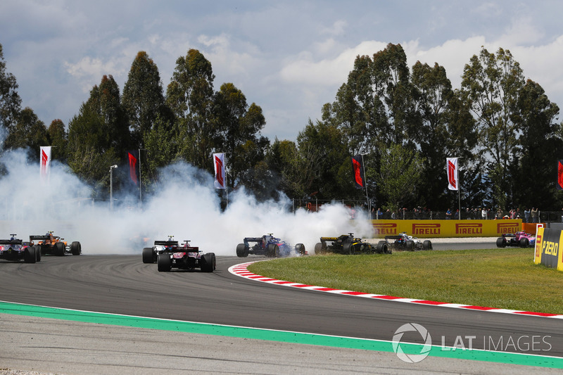 España - Romain Grosjean/Nico Hülkenberg/Pierre Gasly (carrera)