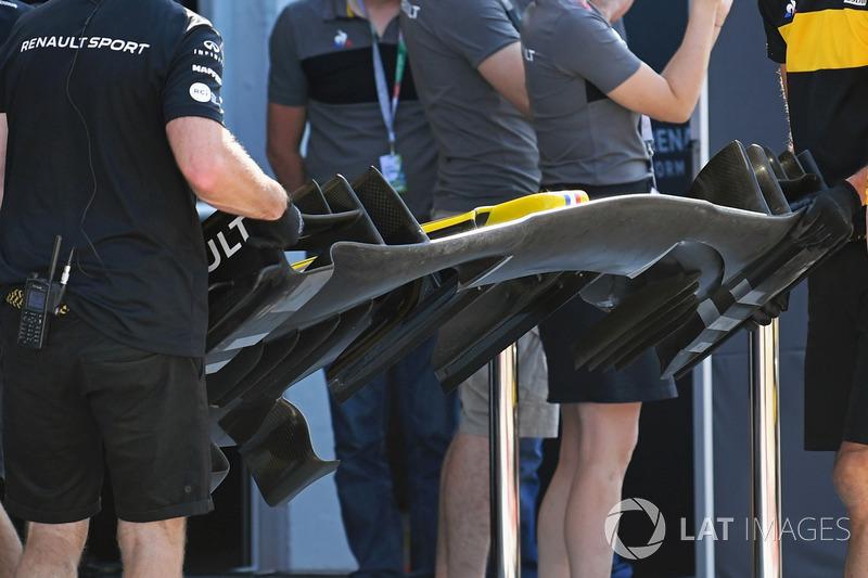 """تفاصيل الجناح الأمامي لسيارة رينو """"آر.اس18"""""""