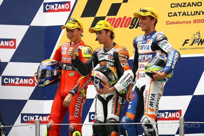 Podium: 1. Andrea Dovizioso, 2. Jorge Lorenzo, 3. Alex De Angelis