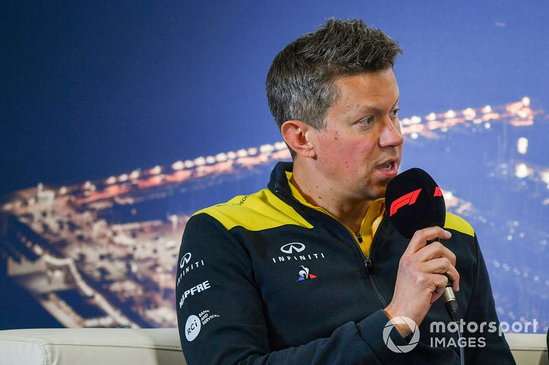 Marcin Budkowski, Renault F1 Team in the press conference