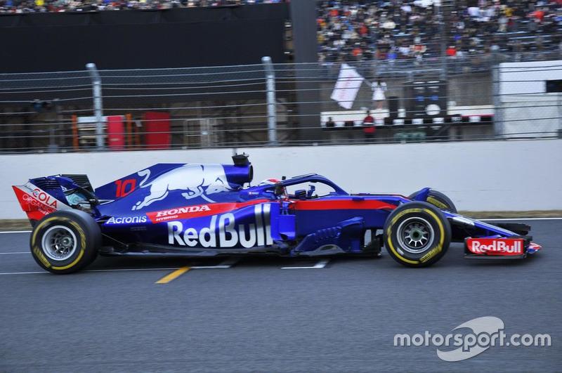 Pierre Gasly y el Toro Rosso STR 13