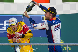 Race winner Antonio Giovinazzi, PREMA Racing, third place Luca Ghiotto, Trident