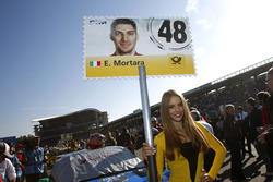 Grid girl of Edoardo Mortara, Audi Sport Team Abt Sportsline, Audi RS 5 DTM.
