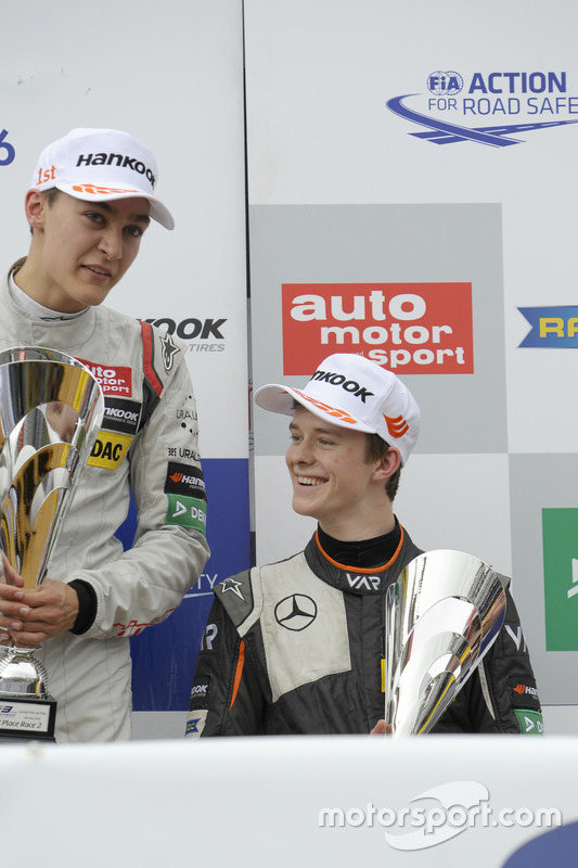 Podium : George Russell, HitechGP Dallara F312 – Mercedes-Benz; Callum Ilott, Van Amersfoort Racing Dallara F312 – Mercedes-Benz